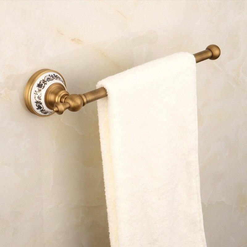 Vintage Ceramic Towel Bar: Antique Brass Ceramic Towel Bar Single Layer For Towel