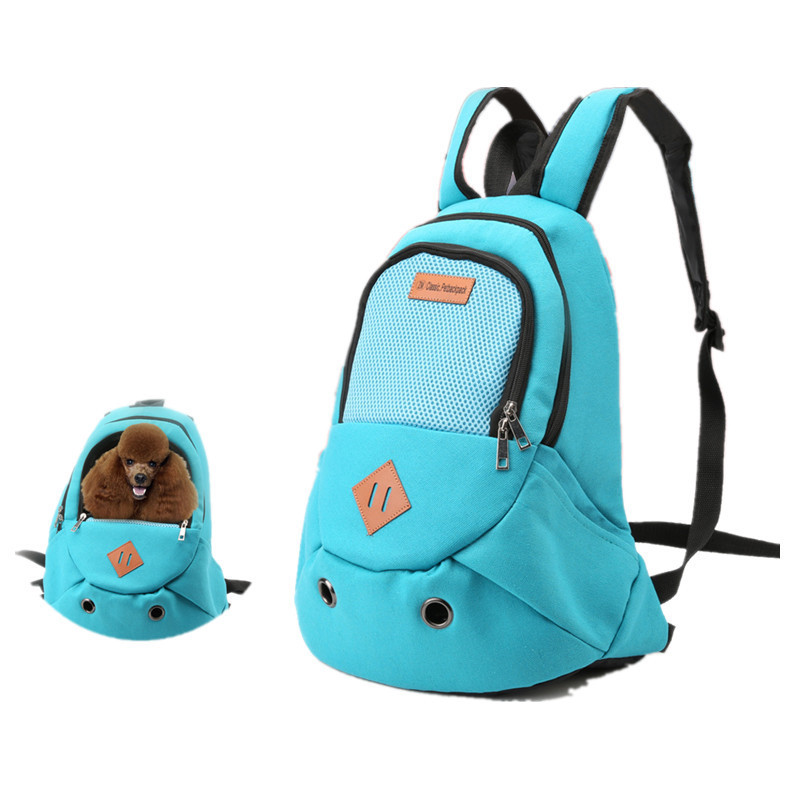 New Fashion Outdoor Pet Bag Carrier Travel Backpack Double Shoulder Bag for Small Dog Pet Supplies with 6 Colors