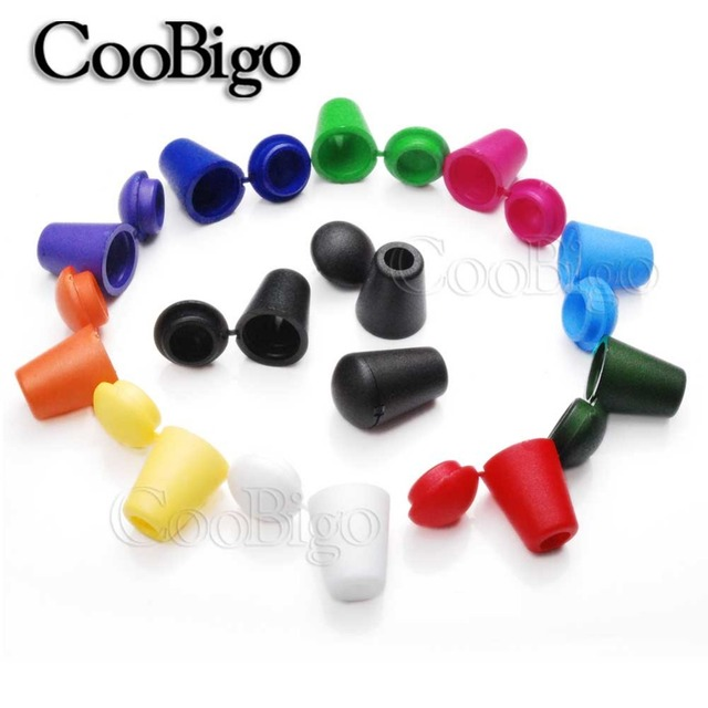 10pcs Colorful Cord Ends Bell Stopper With Lid Lock Plastic Toggle Clip For Paracord Clothes Bag Sports Wear Shoe