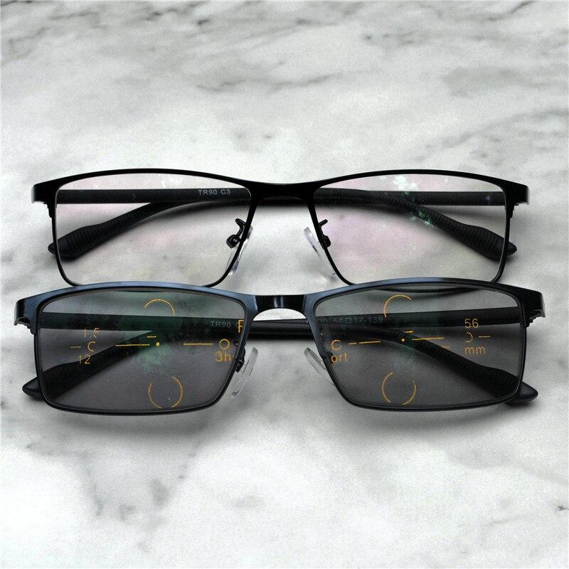 cac4f9dcead6d Óculos óculos de Sol De Transição Photochromic Multifocal progressiva Óculos  De Leitura Homens Pontos para o