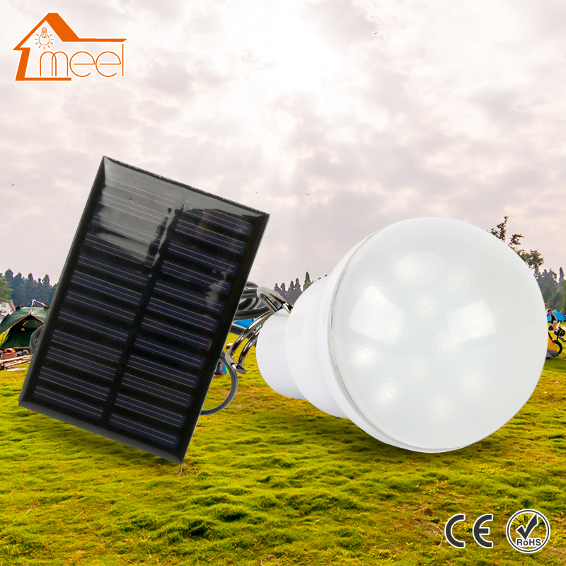 15w 130lm led solar bulb lamp 5v solar powered camping. Black Bedroom Furniture Sets. Home Design Ideas
