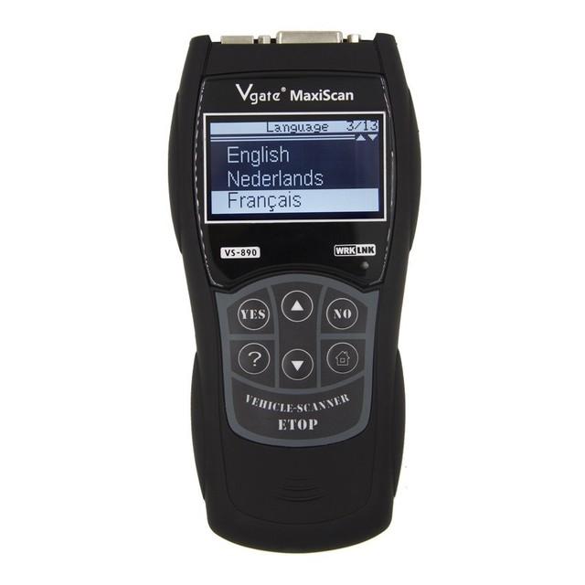 2019 OBD2 Scanner Maxiscan Vgate VS890 OBD Engine Fault Code Reader Analyzer ODB2 EOBD JOBD Car Diagnostic Scanner VS-890