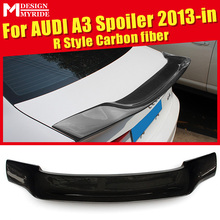 A3 Rear trunk Spoiler Real Carbon Fiber AER-Style Tail wing Fits For A3 A3Q Rear Trunk Wing Spoiler Tail Boot Lip wing 2013-in a3 rear trunk spoiler wing lip small aev style carbon fiber for a3 a3q auto air rear trunk spoiler tail wing car styling 2013 in
