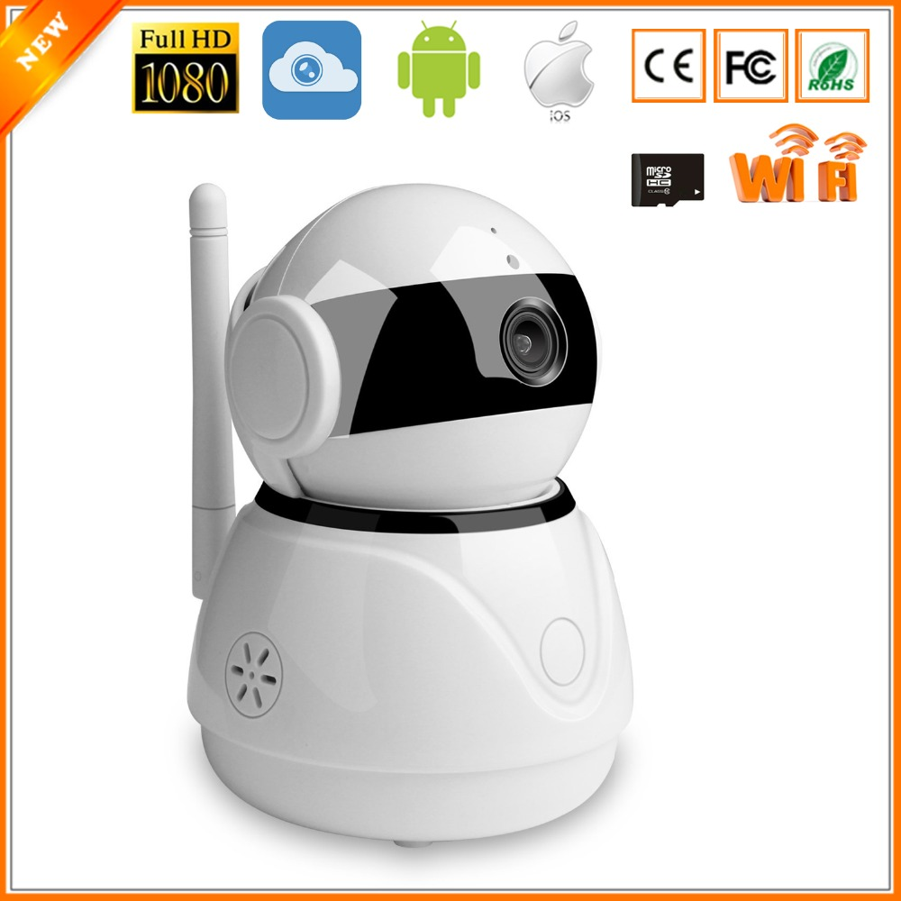US $29 25 24% OFF BESDER Pan Tilt Smart Home IP Camera Wi Fi Cloud Storage  Two Way Audio WiFi IP Camera Work With Amazon Echo Dot Google Assistant-in