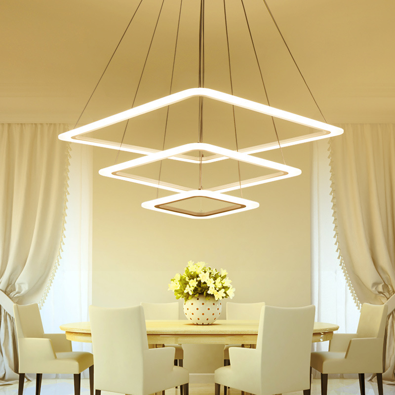 Circel Rings modern led pendant lights for dining living room acrylic cerchio anello lampadario pendant lamp lamparas modernas modern led pendant lights for dining living room acrylic 38w led pendant lights lamp lighting fixture lamparas modernas lamps