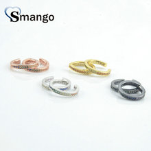 5Pairs, Women Fashion Jewelry,The Rainbow Series,The Circle Shape Ear Clip.4 Colors,Can Wholesale