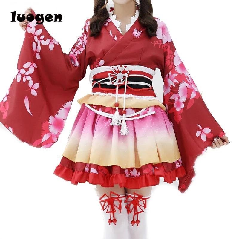 Maki Nishikino Cosplay Japanese Kimono Lolita Dress Costume Anime Love Live