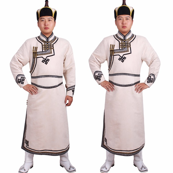 Free shipping le costume mongol Mongolian prenda Chinese minority Men Mongolia clothes robed dance cosplay