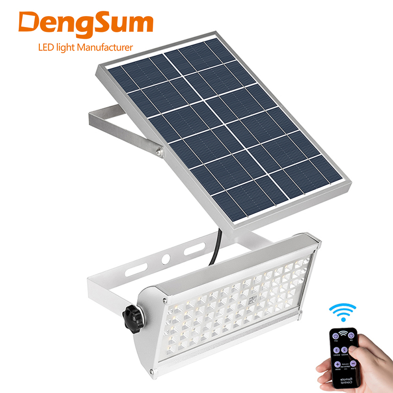 DENGSUM 65Leds Solar Energy Street Light 12WSpotlight Wireless Outdoor WaterproofGarden Solar Powered Lamp With Rremote