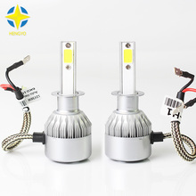 2pcs H1 COB LED Car Headlight Bulb Kit 72W 8000lm Auto Front Light H1 Fog Light Bulbs 6500K 12V 24V Led Automotive Headlamp#C6