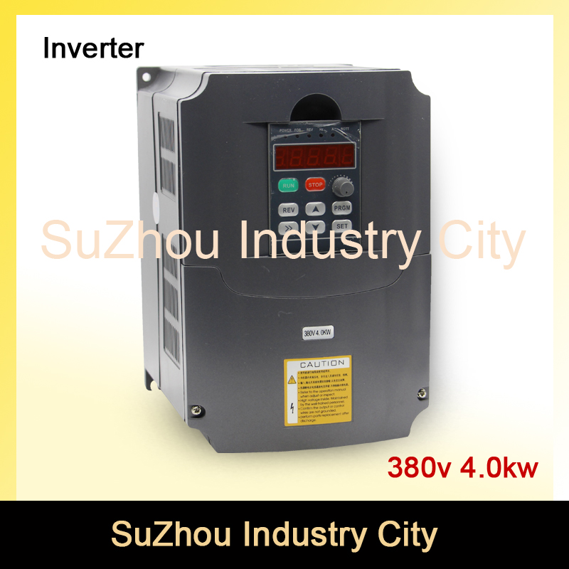4kw 380v VFD Variable Frequency Drive VFD Inverter 3HP Input 3HP Output New Product! High Quality! new 11kw 15hp 380v 400hz vfd variable frequency drive inverter vfd teco 7200ma vfd 1year warranty