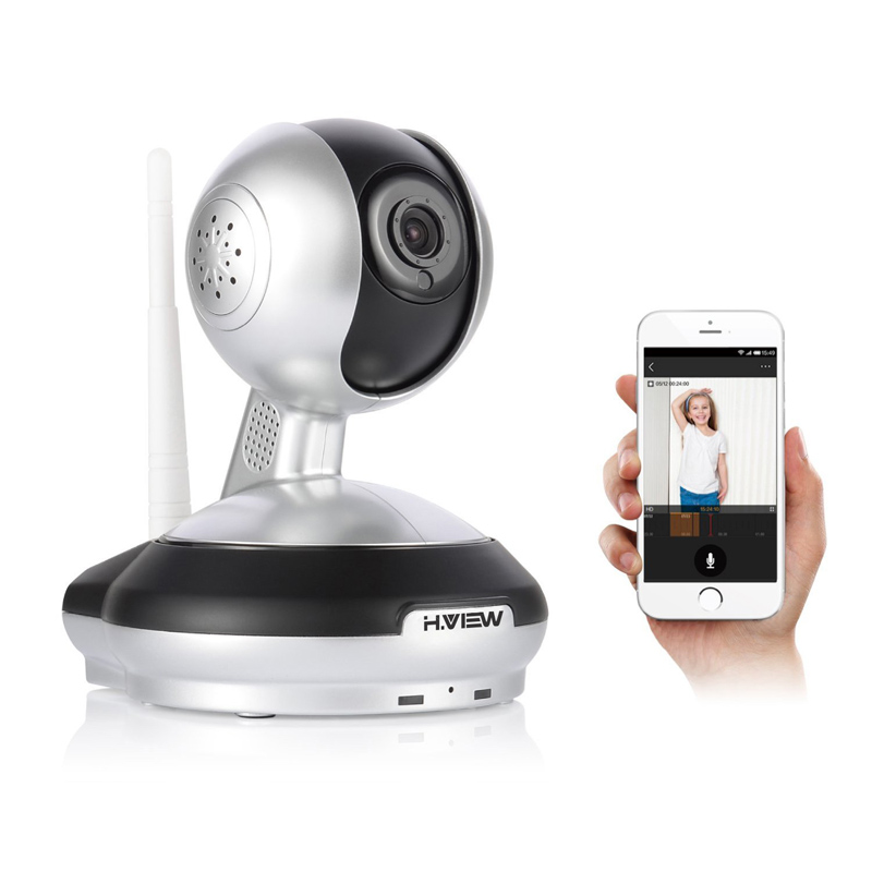 H.View IP Camera Wireless 720P IP Security Camera WiFi IP Security Camera Baby Monitor Security Camera Easy QR CODE Scan Connect