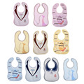 2017 New Cute Baby Bibs Boy Girl Cartoon Burp Cloths Bebes Cotton Toddler Newborn Feeding Accessories Stuff 3-24M