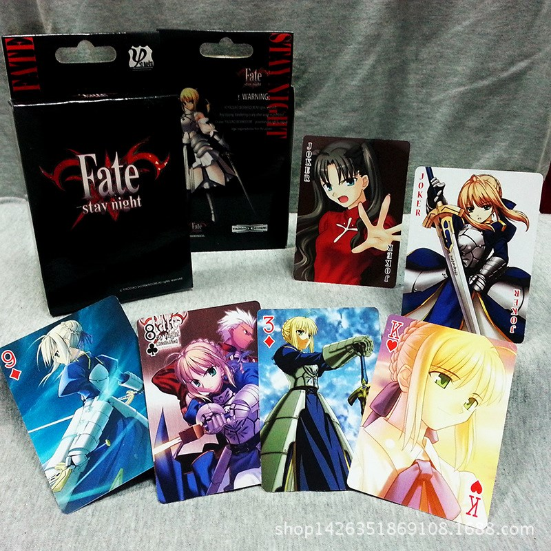 54 Sheets/Set Anime Fate/stay Night Poker Cards Cosplay Board Game Cards Postcard Fans Gift