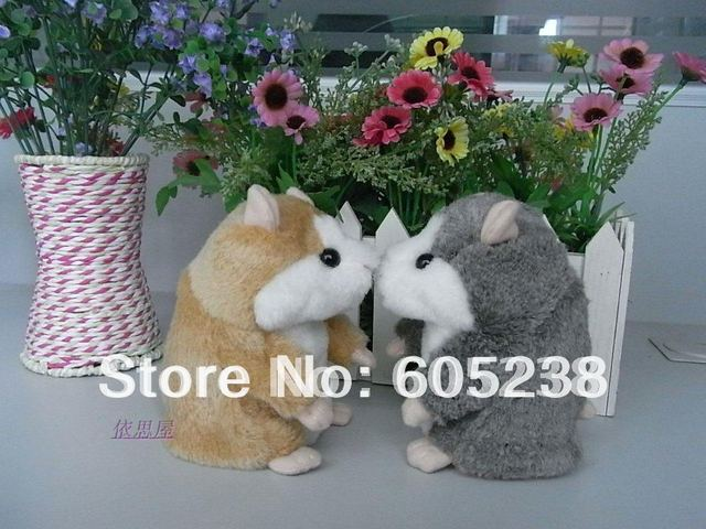 Free shipping  Hamster Talking Plush Toy Children's Day Gift