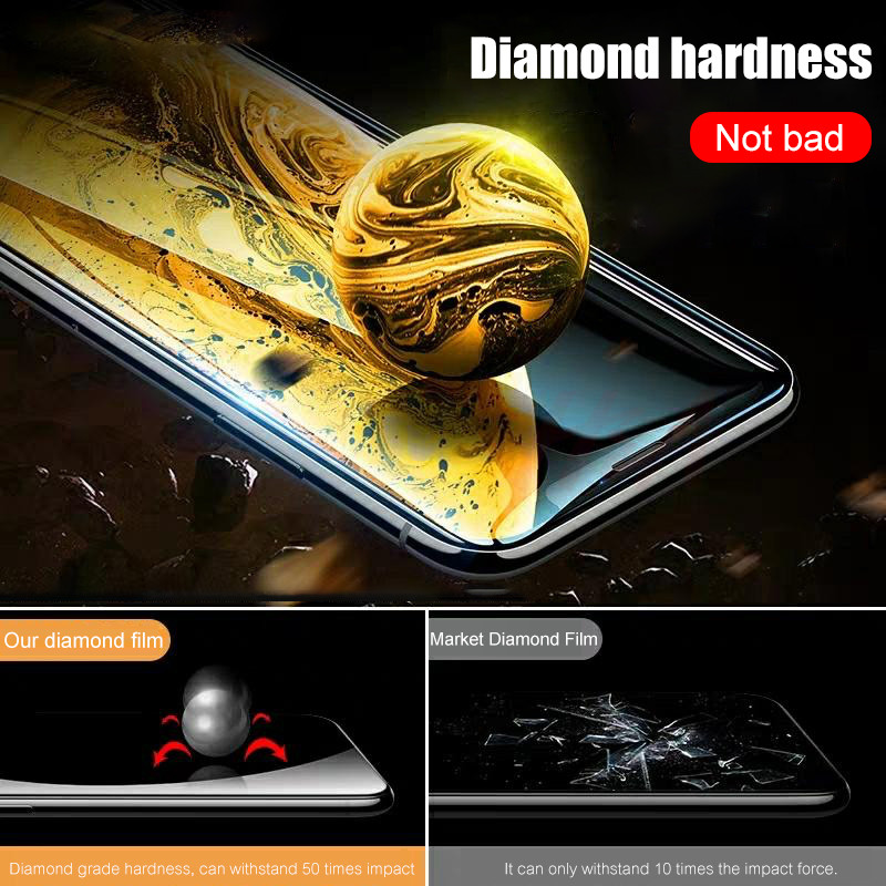 H&A 35D Full Cover Protective Glass On The For iPhone 7 8 6 6S Plus Tempered Screen Protector For X XR XS Max Curved Edge Glass