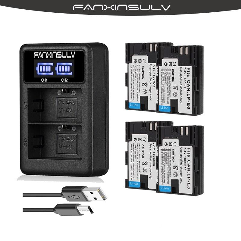 Zielsetzung 4x Lp-e6 Lp E6 Lp-e6n Batterie Japan Sanyo Zellen Digital Batterien Led Dual Usb Ladegerät Für Canon Eos 6d 7d 5ds 5dsr 5d Mark Ii 5d 60d 60da 70d 80d Unterhaltungselektronik