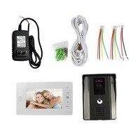 7 Color Video Door Phone Video Intercome Doorbell IR Night Vision Rainproof Security Camera Doorbell Kit