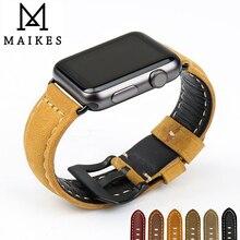MAIKES Novel design watchbands genuine leather watch strap bracelet belt for apple bands 42mm 38mm iwatch series 2 1