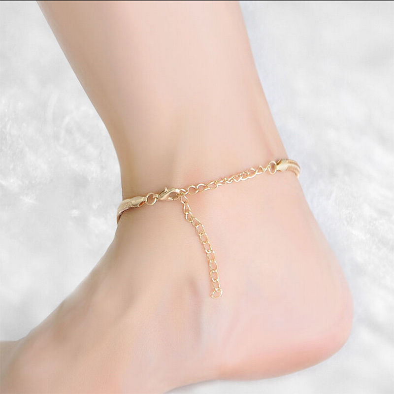 Hot-New-One-Pcs-Gold-Silver-Snake-Chain-Anklet-Bracelet-Fine-scale-Anklet-Chain-Sexy-Foot (1)