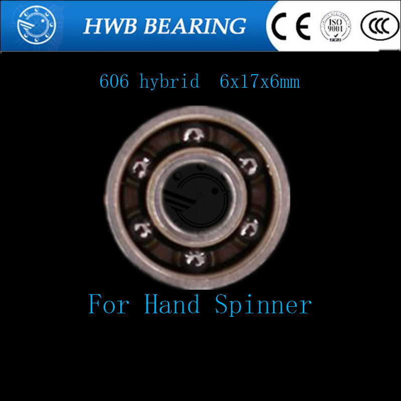 Free Shipping Fingertip gyro finger spiral beearing steel hybrid ceramic bearings 606 608 626 686 688 695 For Hand spinner 50pcs 608 stainless steel black ceramic ball bearing for handspinner drift board skateboard finger gyro toy hardware accessories