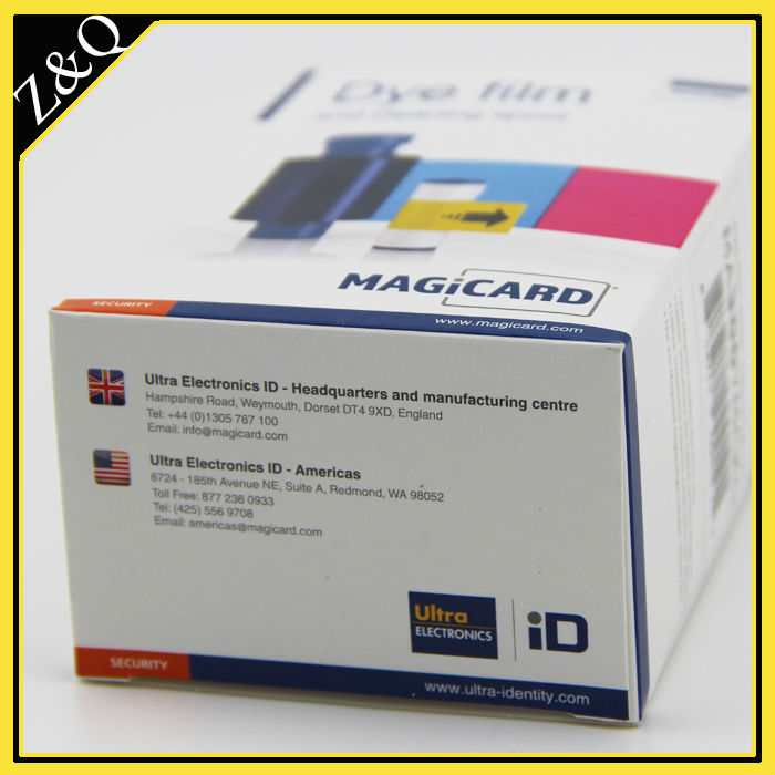 Cinta de Color Magicard MA300 YMCKO usada en impresión de impresora Magicard Proton, impresora Rio Pro y Enduro