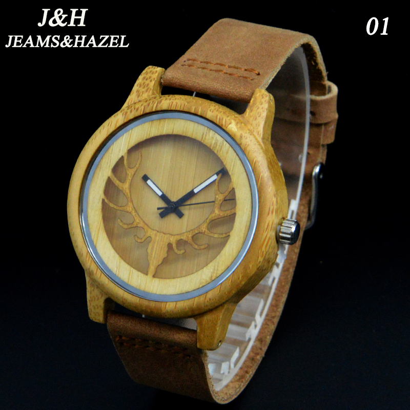 2016 New Natural Black Sandal Wood Analog creative Watch JH Japan MIYOTA Quartz Movement Wooden Watches Dress Wristwatch Unisex