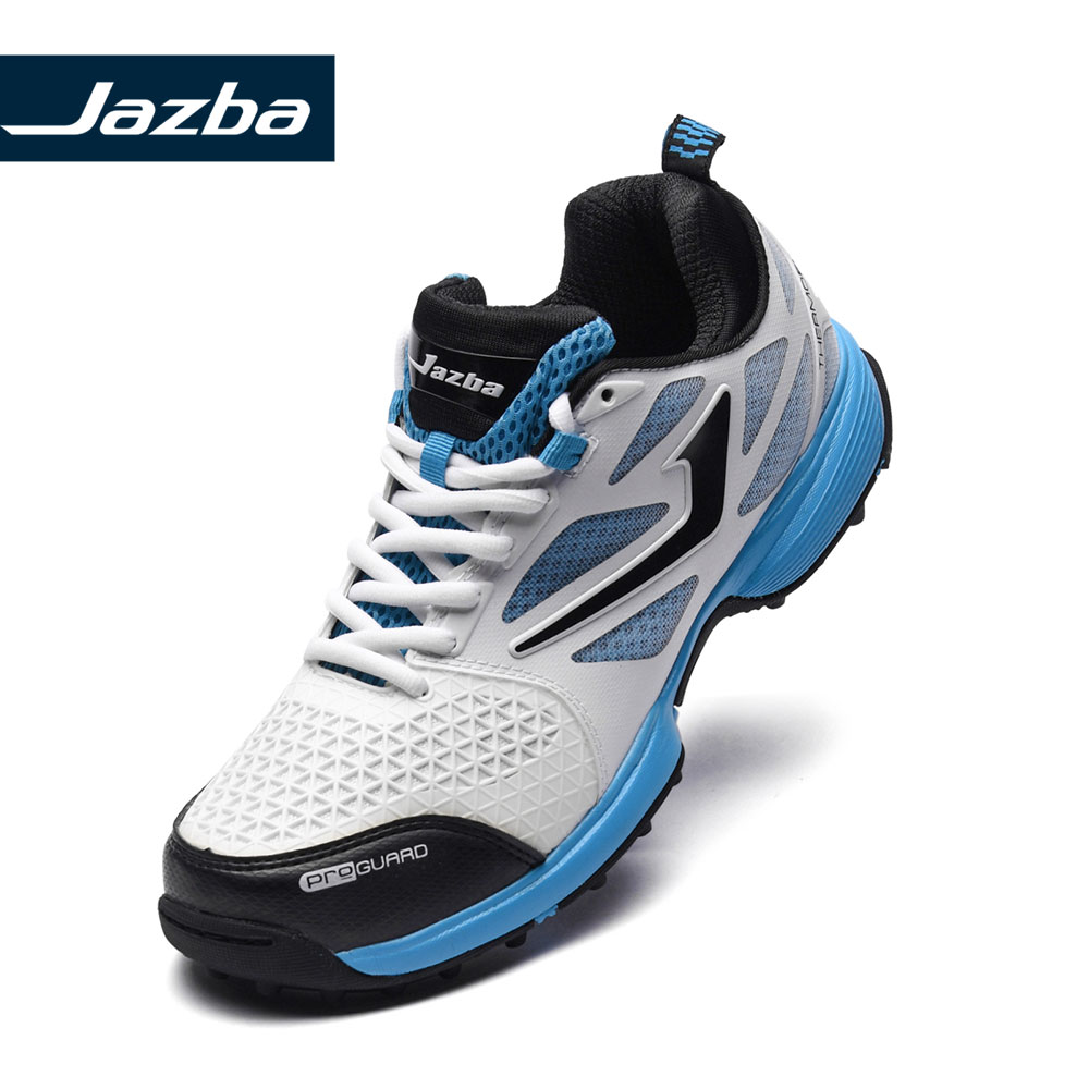 Jazba SKYDRIVE 110 Mens Cricket Rubber Cleats Shoes Professional Cushioning Light Sport Sneakers Men Training Outdoor