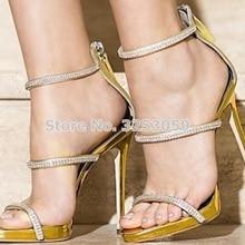 Women Top Brand Bling Bling Crystal Wedding Shoes