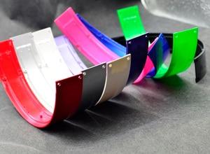 Image 5 - Defean błyszczący połysk kolor top z pałąkiem na głowę opaska na głowę części zamienne do słuchawek hings śruby opaski do piłka odbija się studio słuchawki zestaw słuchawkowy