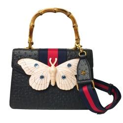 Moda y personalidad elegante cinta ancha correa de hombro bolsa de mariposa grande para las mujeres 2019 recién llegado monedero de las mujeres, B006