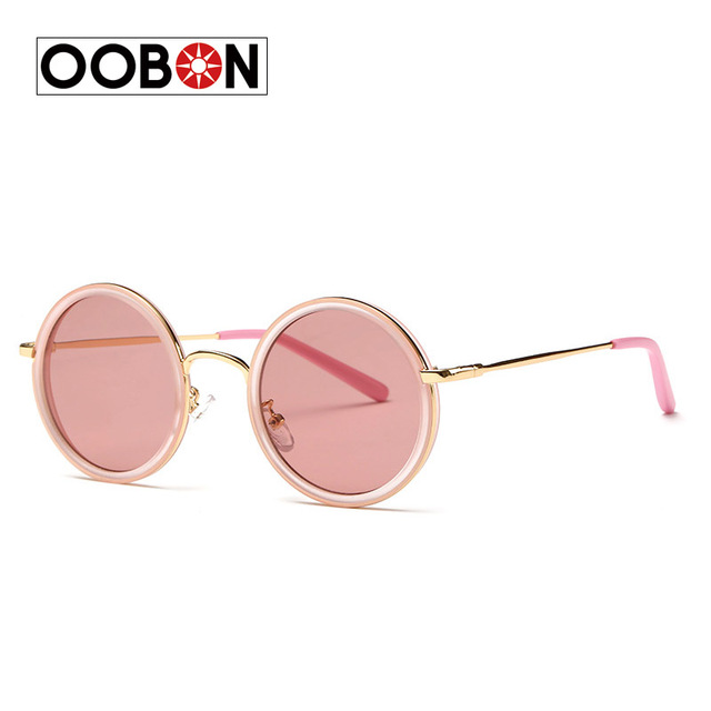 2017 New Brand Women Round Sunglasses Hollywood Pool Sea Blue Female Fashion Oversize Mirror Glasses Oculos UV400