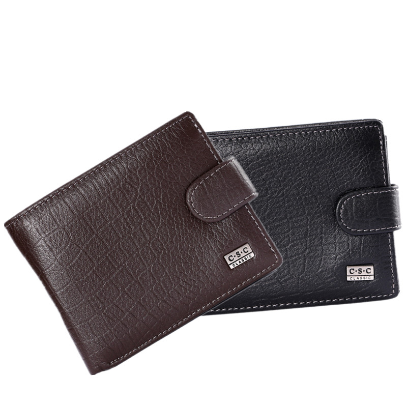 Hot Brand Fashion Men Wallets Quality Soft  Design Wallet Casual Short Style men purse Tri fold hasp men's wallet trendy hasp and tri fold design wallet for women