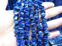 40inch 6 10mm Genuine (Natural)Lapis Lazulie Beads chips inrregular freeform Blue Gold Lapis Gemstone necklace