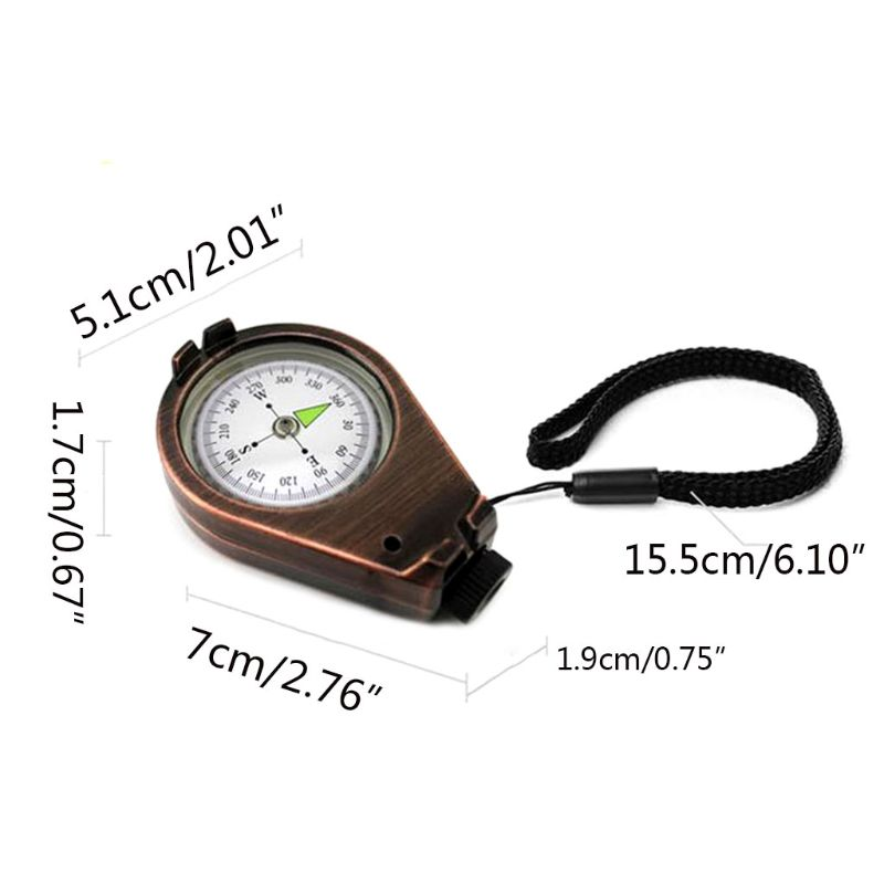 Image 5 - Sturdy Zinc Alloy Compass With Lanyard Waterproof Pocket Size Outdoor Camping Hiking Gear Portable Adventure Survival Accessory-in Compass from Sports & Entertainment