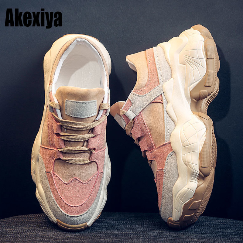 High Quality Trainers Women's Platform Sneakers Women Shoes Breathable Casual Women Running Chunky Sneakers f366 1