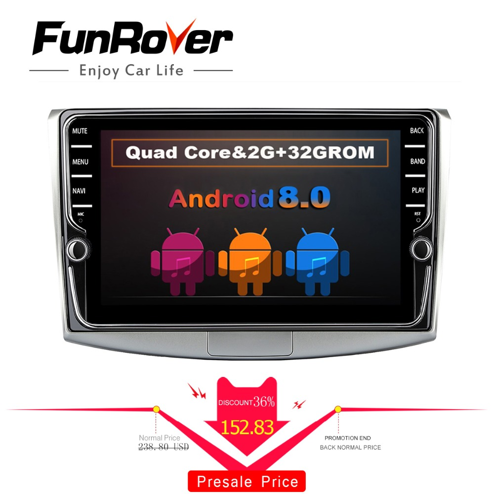 Hot Sale Funrover 2g Ram 9 Android 8 0 Car Dvd Multimedia Stereo