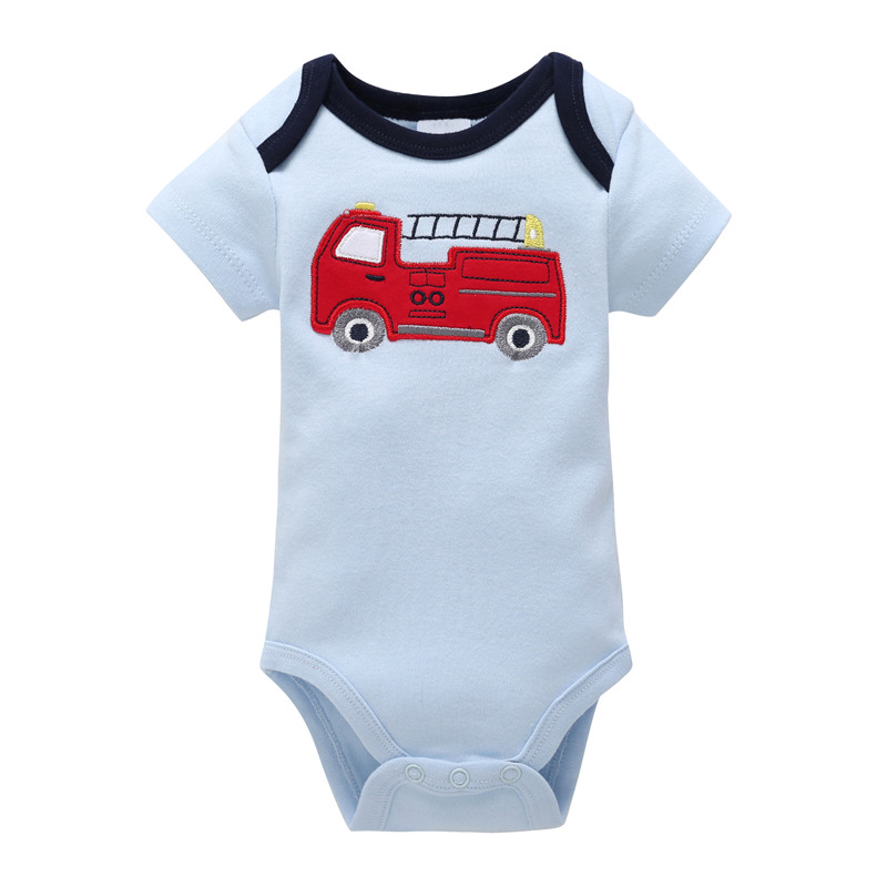0-12M Newborn Baby Boy Rompers Baby Clothes Cotton Newborn Clothes Summer Unisex Infant Jumpsuit Fire Engine Style In Sonkpuel ...