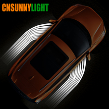 CNSUNNYLIGHT Car/Motorcycle LED Decorative Light Welcome Emergency Signal Wings Lamp Projector Shadow Lighting Fog Warning Light