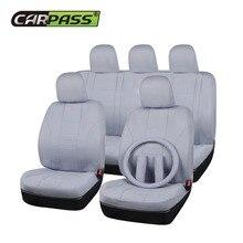 Car-pass (Nero Beige Grigio) Tessuto Seggiolino Auto Universale Copre Misura La Maggior Parte Decorazione di Interni Auto Accessori Auto Seat Protector