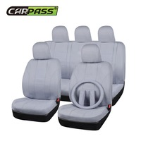 Black Beige Gray Fabric Universal Car Seat Covers Fit Most Car Covers Auto Interior Decoration