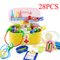 Children doctora juguetes Play House Toys  baby toy deluxe doctor play set doutora brinquedos