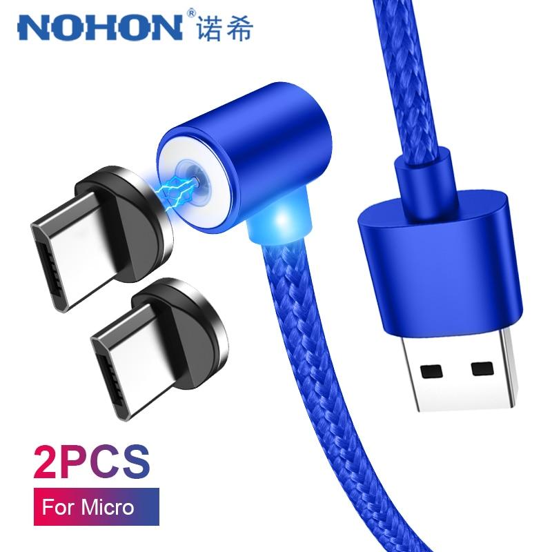 Nohon Micro Usb Magnetische Usb-ladekabel Für Samsung Galaxy S7 S6 Rand Huawei Xiaomi 4 Android Telefon Lade Ladung Kabel 2 M