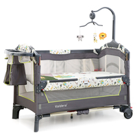 2017 Multi Function Folding Baby Bed European Portable Game Bed Baby Travel Bed Can Connect With