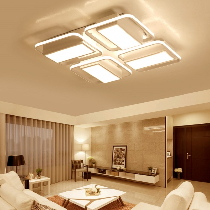 NEO Gleam Surface Mounted Rectangle modern led ceiling lights for living room bedroom lamparas de techo Study Room Ceiling Lamp minimalism modern led ceiling lights for living room bedroom kids room white surface mounted ceiling lamp lamparas de techo