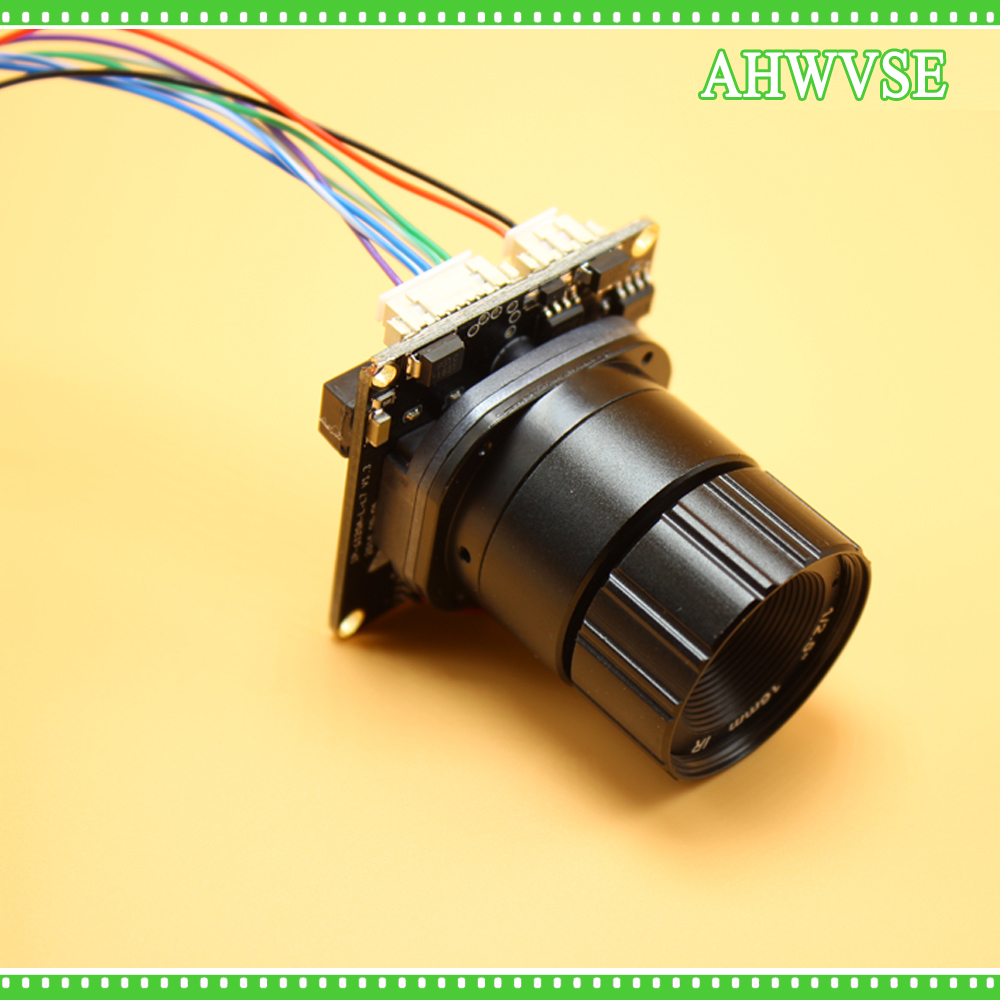 AHWVSE Long distance view Mini IP Camera Module 1MP 2MP 1.3MP with RJ45 Port and CS Lens 4mm 8mm 12mm 16mm hkes 38pcs lot 1mp cctv ahd camera module with bnc port and 16mm lens