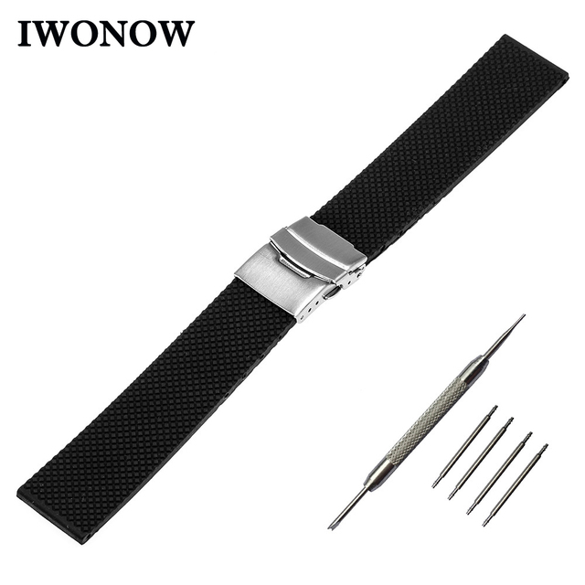Silicone Rubber Watchband 22mm for Samsung Gear 2 R380 Neo R381 Live R382 Gear S