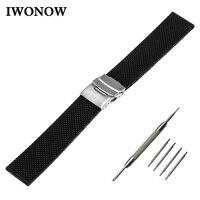 Siliconen Rubber Horlogeband 22mm voor Samsung Gear 2 R380 Neo R381 Live R382 Gear S3 Galaxy Horloge 46mmm Band veiligheid Gesp