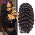 Sunnymay Deep Wave Peruvian Virgin Hair Full Lace Human Hair Wigs Natural Hairline Lace Front Human Hair wigs With Baby Hair