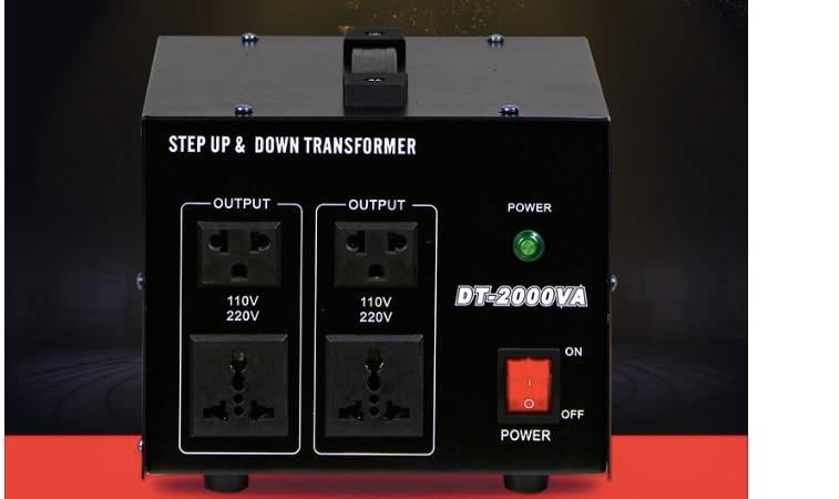 2000 watt single phase step up& down Converter transformer/Electric product transformer Down Power Supply 220V-110V 110V-220V 5pcs lot intersil isl9440irz isl9440 qfn triple 180 out of phase step down pwm and single linear controller